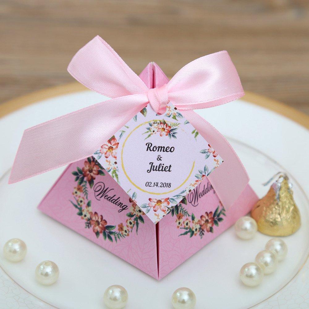 Amazon.com - Gold Happy 50 pcs Pink/Purple/ Tiffany Blue Floral ...