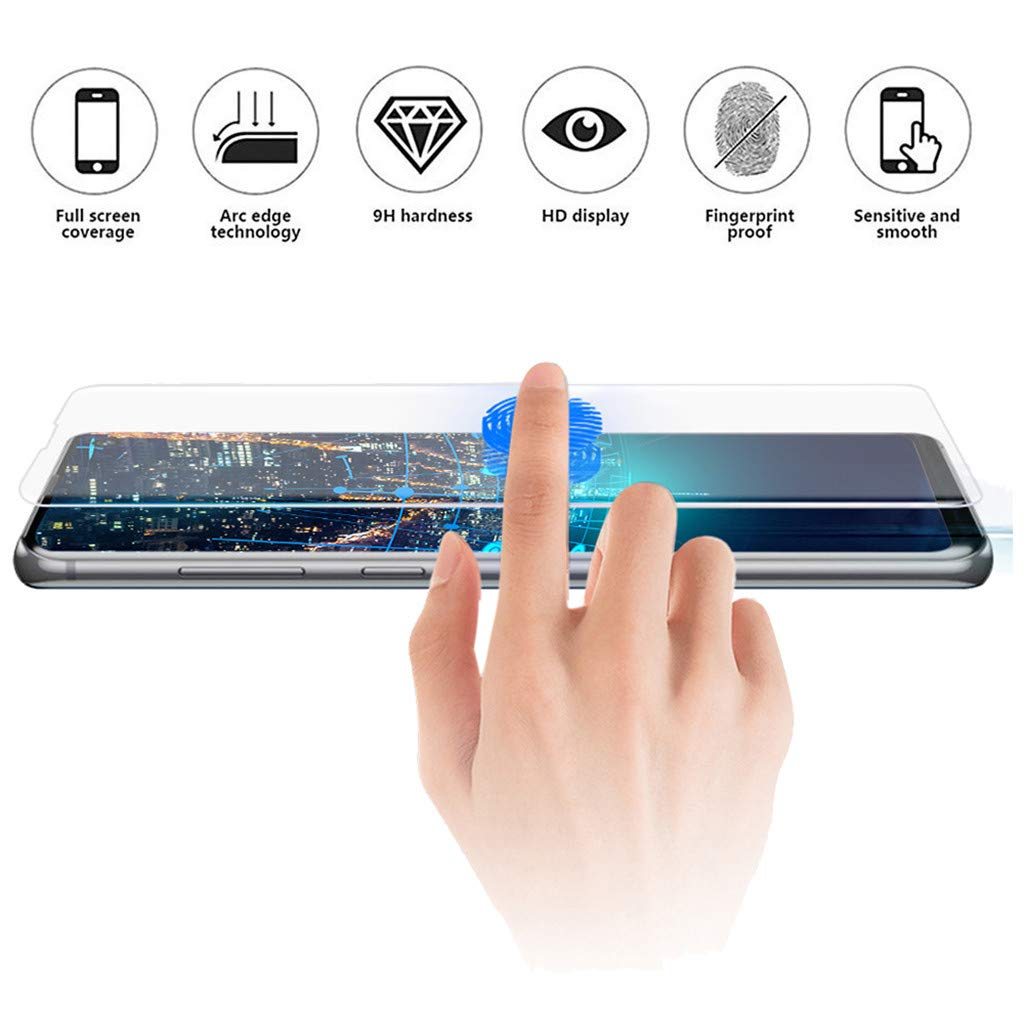 Lljin Full Coverage UV Tempered Glass Screen Protector for Samsung Galaxy S10 6.1 inch