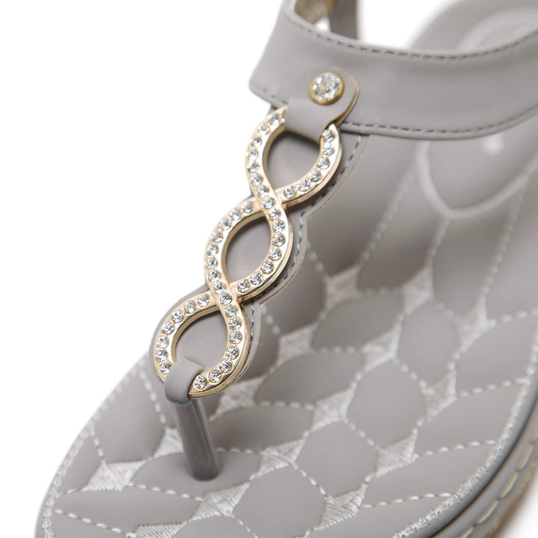f36f95bd6358c6 DolphinBanana Bohemian Glitter Summer Flat Sandals Prime Thongs Flip Flop  Shoes. by DolphinBanana. Bohemian Summer Vacation Flat T-Strap ...