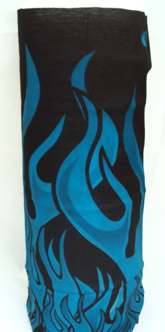 Winter Neck Warmer - blue flame pattern Warm Neck Company NW-425