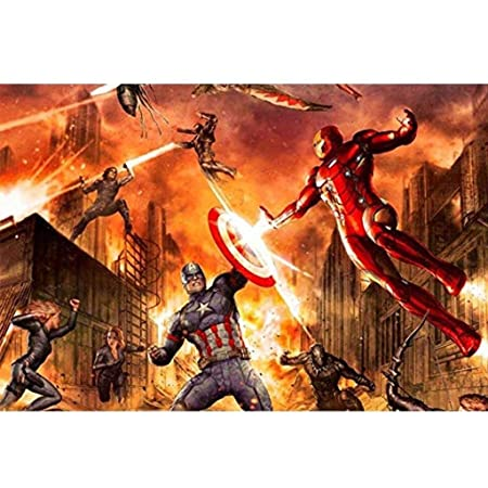 AMY-ZW Marvel Capitán América Comics Rompecabezas La Liga de ...