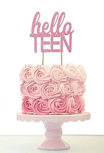 Groovy Amazon Com Teen Birthday Cake Topper Handmade Birthday Cards Printable Trancafe Filternl