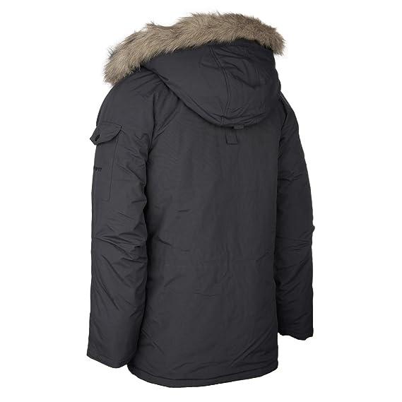Abrigo Carhartt para hombres, de invierno, con pelaje, color gris y negro gris eclipse/black Large: Amazon.es: Ropa y accesorios