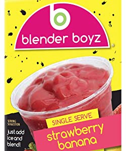 Blender Boyz Strawberry Banana Single-Serve Liquid Smoothie Mix | Made With Real Fruit | Gluten Free, Dairy Free, Nut Free, Fat Free | 12 Pack