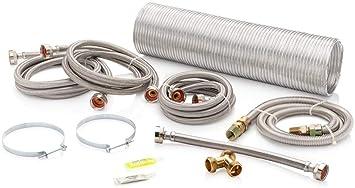 Superior Brands Kit de instalación de lavadora y secadora de vapor ...