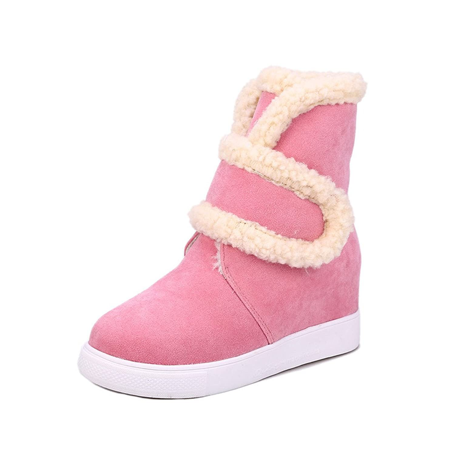 fa4b2e7115e new COSTYLE Women Round Toe Hidden Wedge Microsuede Snow Sneakers Winter  Boots