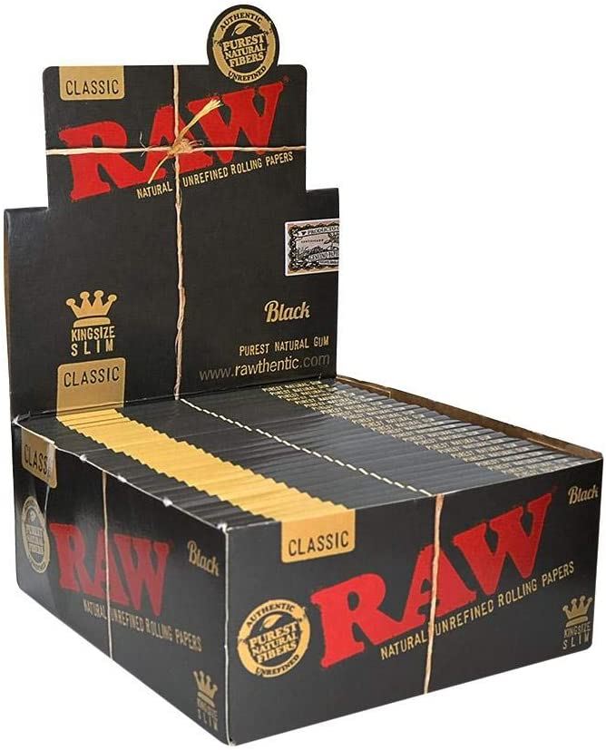 32 Leaves 1 Pack 2XBlack King Size Slim Natural Unrefined Rolling Papers