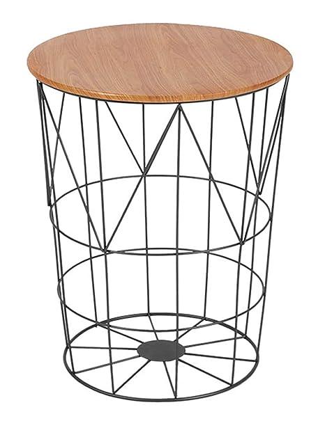 Amazon.com: Mesa de café/mesa lateral/cesta de ...