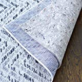 "RUGPADUSA - Basics - 5'x8' - 1/4"" Thick - 100% Felt - Protective Cushioning Rug Pad - Optional Non Slip Rubber Backing - Safe for All Floors and Finishes including Hardwoods"