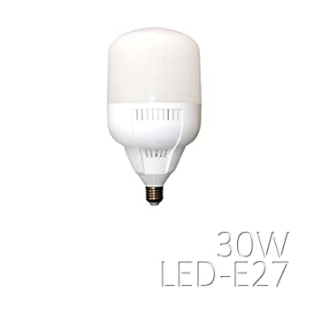 Bombilla LED de 30 W, casquillo E27, temperatura de color (natural) 4500 K: Amazon.es: Electrónica