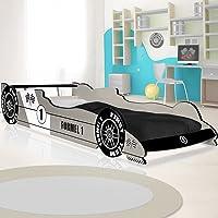 Deuba Lit voiture F1 enfant design Formule 1 - couleur au choix - coins arrondis