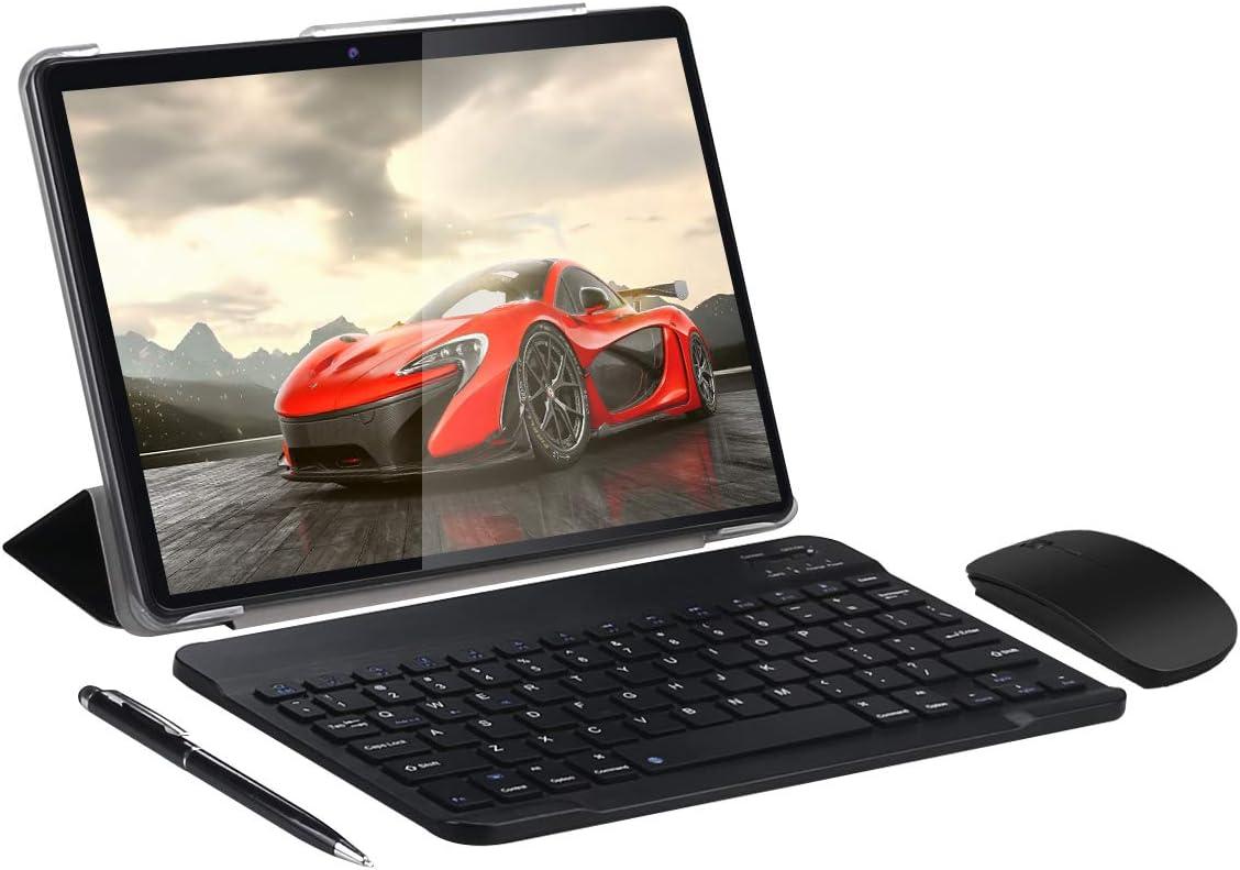 SUMTAB 4G LTE Tablet 10 Pulgadas con Teclado,Android 9.0 Tableta,4 GB de RAM y 64 GB de Memoria,Quad-Core,WiFi,IPS 1280*800 Display,GPS,Bluetooth,OTG