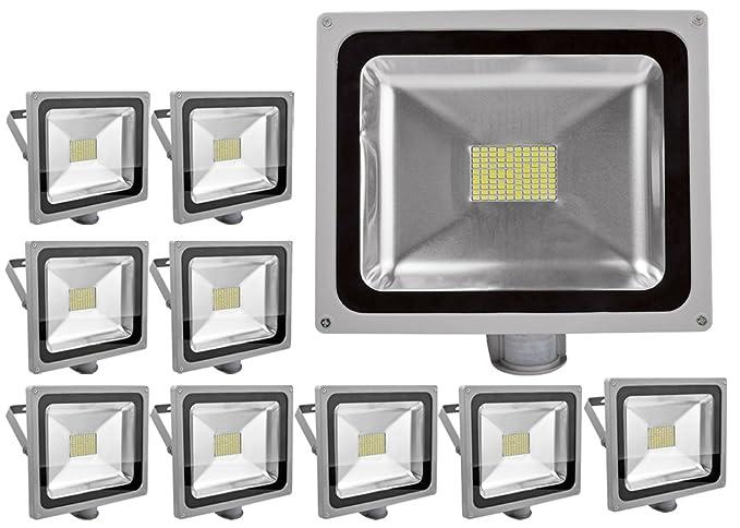 10pcs 80W Iluminación SMD LED y PIR Sensor de Movimiento,ALPHA ...