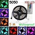 eBoTrade Strip Light, 16.4ft 5M Flexible Strip 300 LEDs Color Changing Light Strip Kit