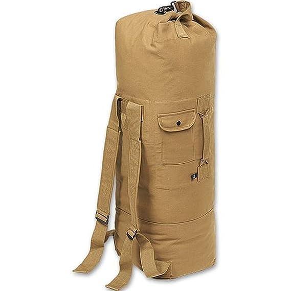 Bolsa de transporte con correa doble lona US mochila de colour camel: Amazon.es: Deportes y aire libre