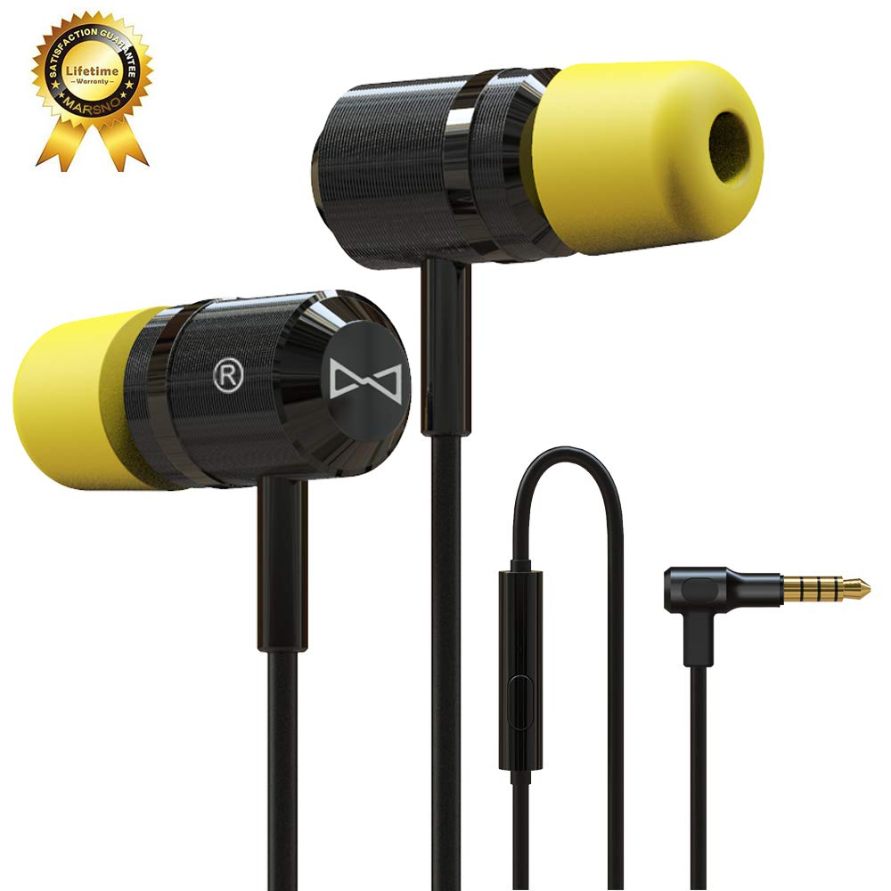 133f8b9450d Marsno M1943 Earbuds Audio in-Ear Headphones with Microphone Noise  Isolating in-Ear Memory Foam - Ear Buds with Powerful Bass and Pure Sound -  [ 3.5mm Jack, ...