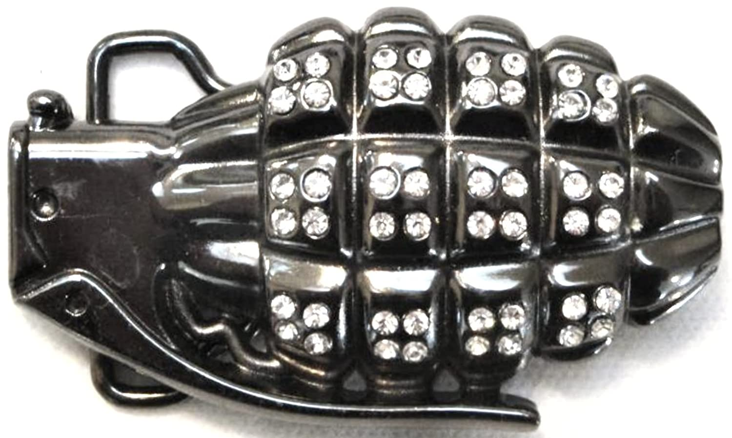 "HAND GRENADE ""Sparkly"" MUNITIONS ORDINANCE MILITARY BELT BUCKLE"