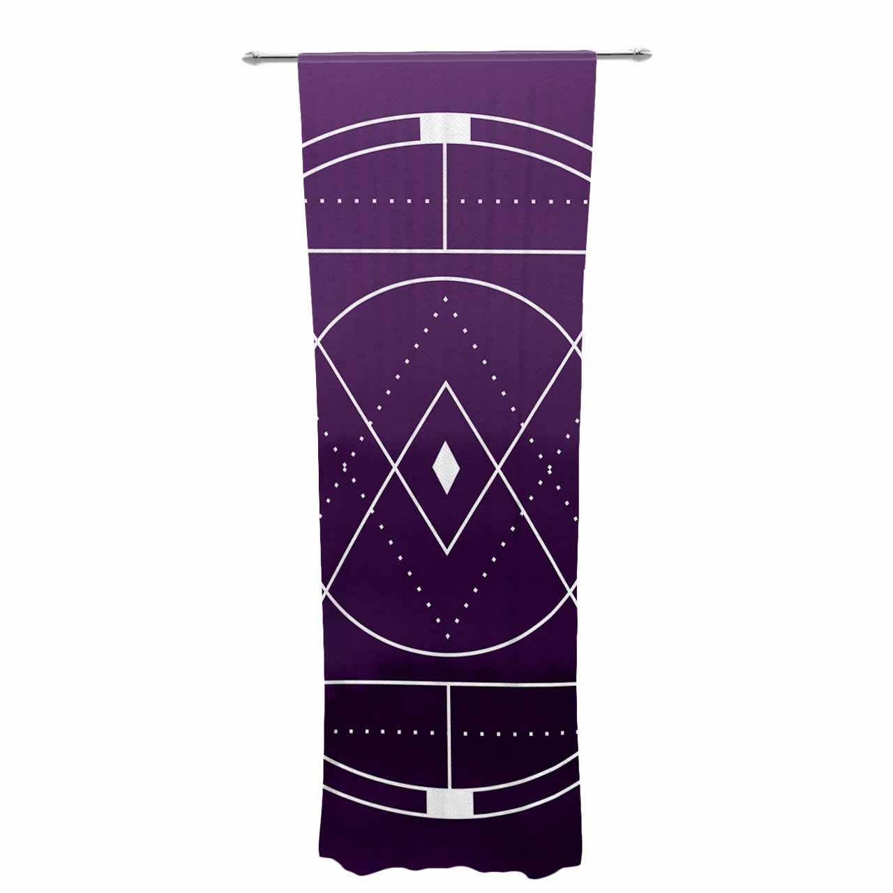 Kess InHouse Matt Eklund Mystic City Sheer Curtains 30 x 84