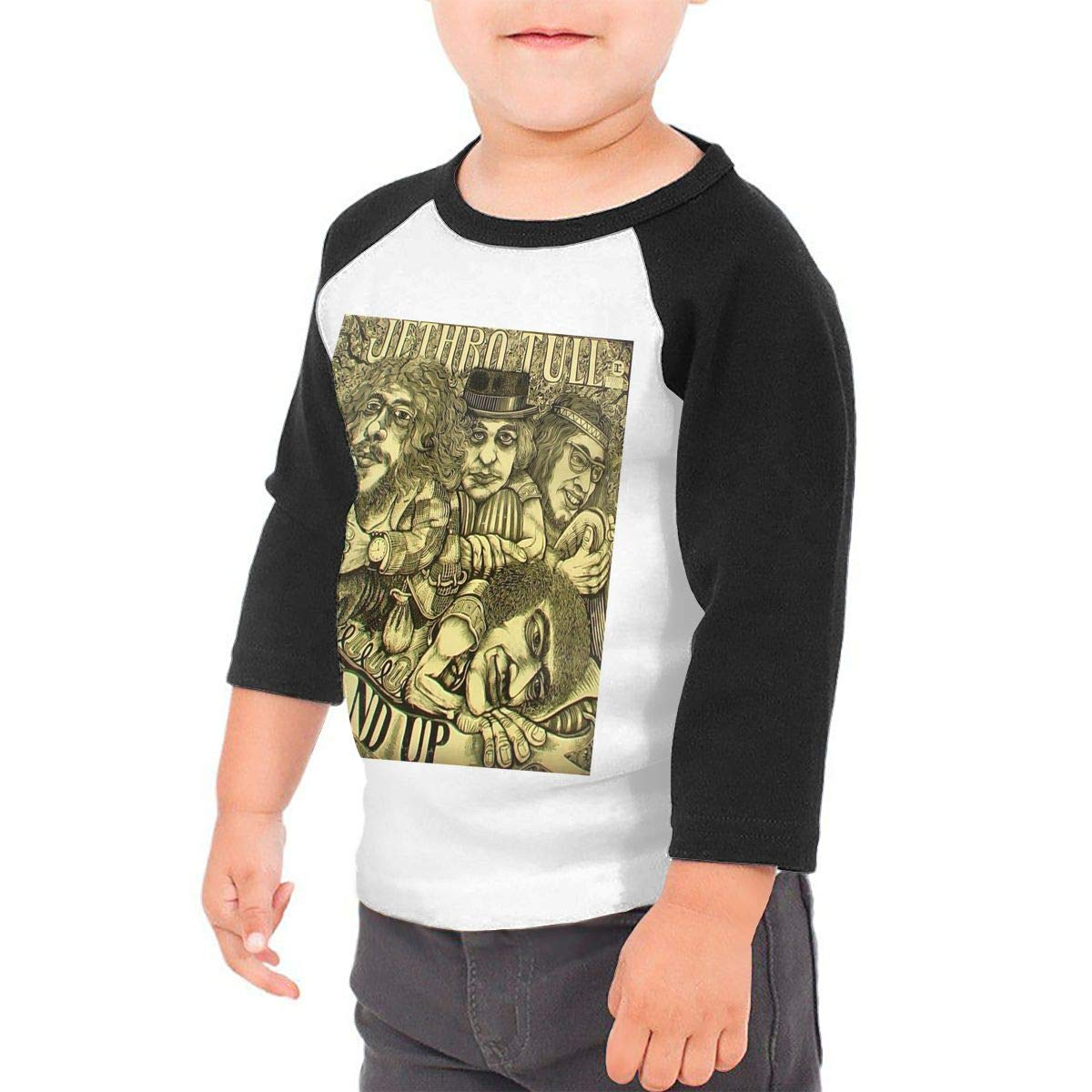 Black6Red Stand Up Childrens 3//4 Sleeve T-Shirt