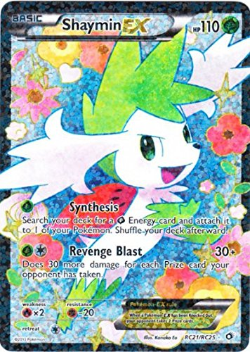 Amazoncom Pokemon Shaymin Ex Rc21rc25 Legendary Treasures