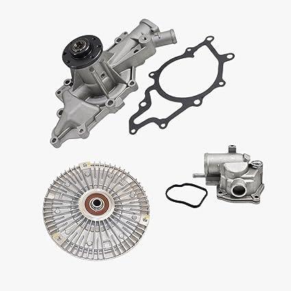 Water Pump Thermostat Fan Clutch w/Fan Blade Kit for Dodge Freightliner Sprinter 2500 Sprinter