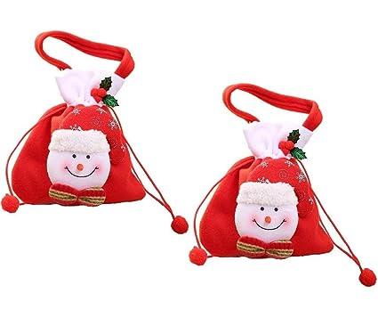 2 bolsas de Navidad para dulces, con cordón, bolsa de regalo ...