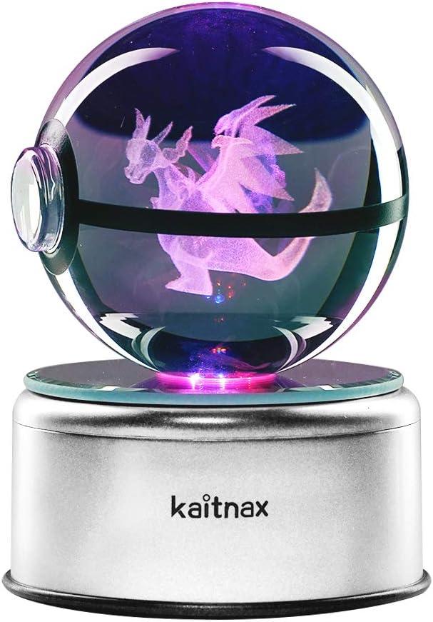 3D Cool Laser Etching Crystal Ball Night Light Gift Lamp for Kids Children Christmas