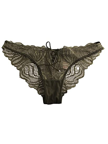 ae0ad3531d10 Victoria's Secret Very Sexy Cutout Lace Cheekini Panty Small Green at  Amazon Women's Clothing store:
