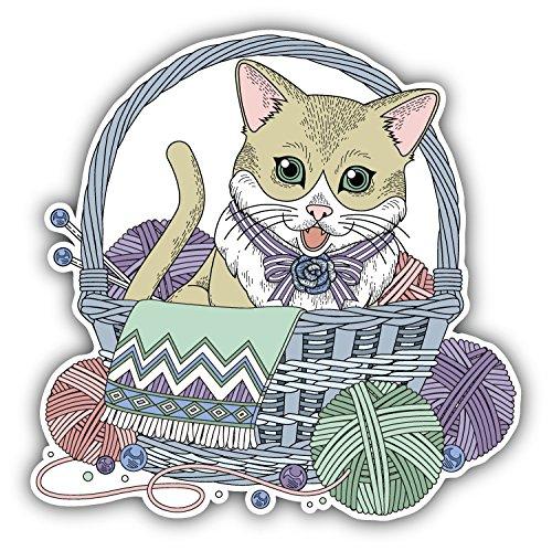 Adorable Furniture (Adorable Kitty Cartoon Animal Art Decor Bumper Sticker 5'' x 5'')