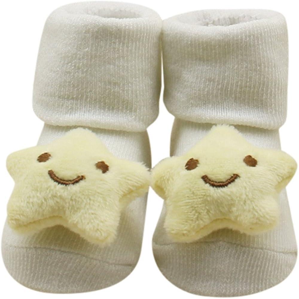 CZYCO Lovely Baby Boy Girl Elastic Round coral fleece socks Antiskid Toddler Sock