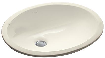 kohler k 2209 47 caxton undercounter bathroom sink almond - Bathroom Sink