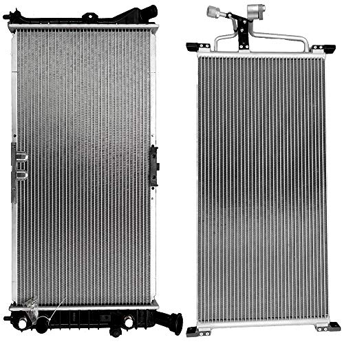 SCITOO Radiator+AC A/C Condenser Compatible with 1997-1999 Buick Century/Regal 1998-1999 Oldsmobile Intrigue 1997-2003 Pontiac Grand Prix 4806 1889