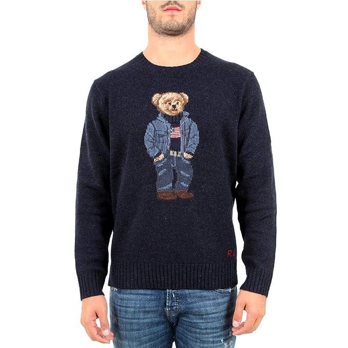 Polo Ralph Lauren Maglia Polo Bear Uomo Mod. 710717792 XS: Amazon ...