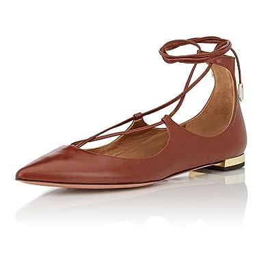 00417898c7cbb Amazon.com   Aibarbie Women's Ladies Dianvito Leather Point-Toe ...