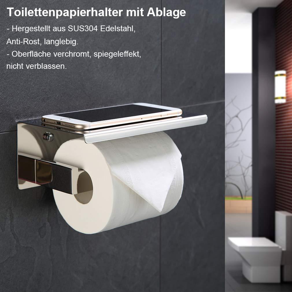 Distributeur de papier toilette WC-Porte-rouleau klorollenhalter en acier inoxydable