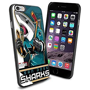 NHL San Jose Sharks , Cool iPhone 6 Smartphone Case Cover Collector iphone TPU Rubber Case Black
