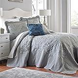 BrylaneHome Amelia Bedspread (Grey,King)