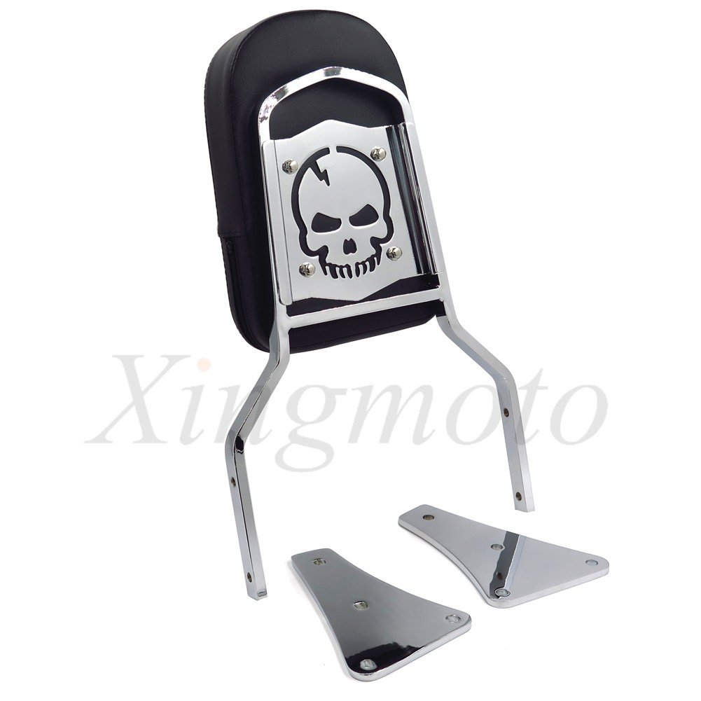 Flame Backrest Sissy Bar For Kawasaki Vulcan 1500 Classic All Years 1986-2013