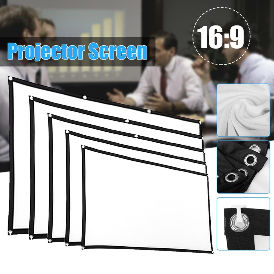 Portable Projector High Definition Curtain Portable Screen by Ikevan