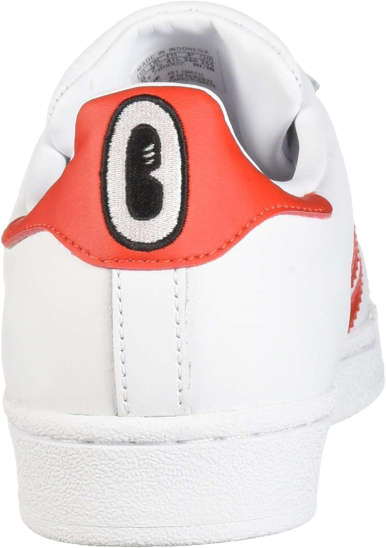 adidas Originals Women's Superstar Sneaker White/Active Red/Core Black