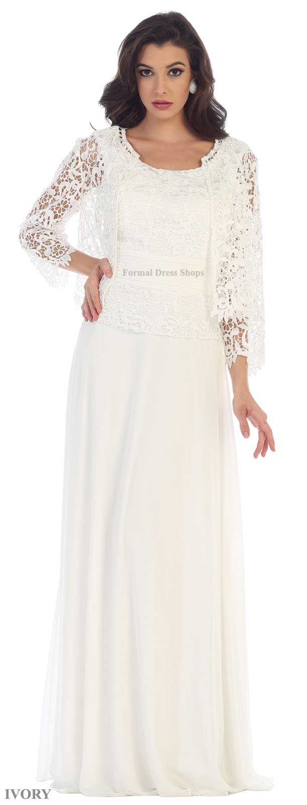 5d7b582aa61 May Queen MQ1288 3 4 Sleeve Mother of The Bride Dress (L