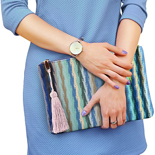 Cards Abstract Money Women��s Ultra Multiple Smartphone Otto Slim Purse Clutch Blue Slots Fashion Hg1qaBf