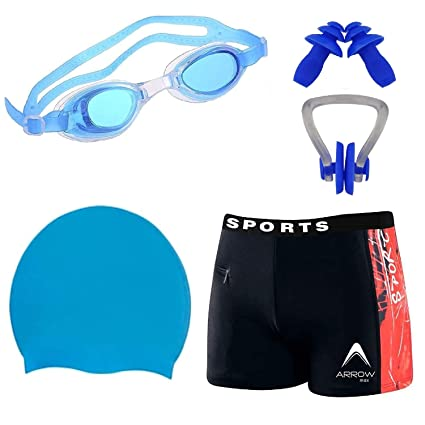 869843618a Golden GIrl Boy Men's Swimming Combo Kit With Swimming Costume| Shots, Swimming  Cap,