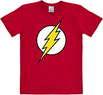 Logoshirt Camiseta Flash - Logotipo - Camiseta DC Comics - Flash - Logo - Camiseta con Cuello Redondo Rojo - Diseño Original con Licencia