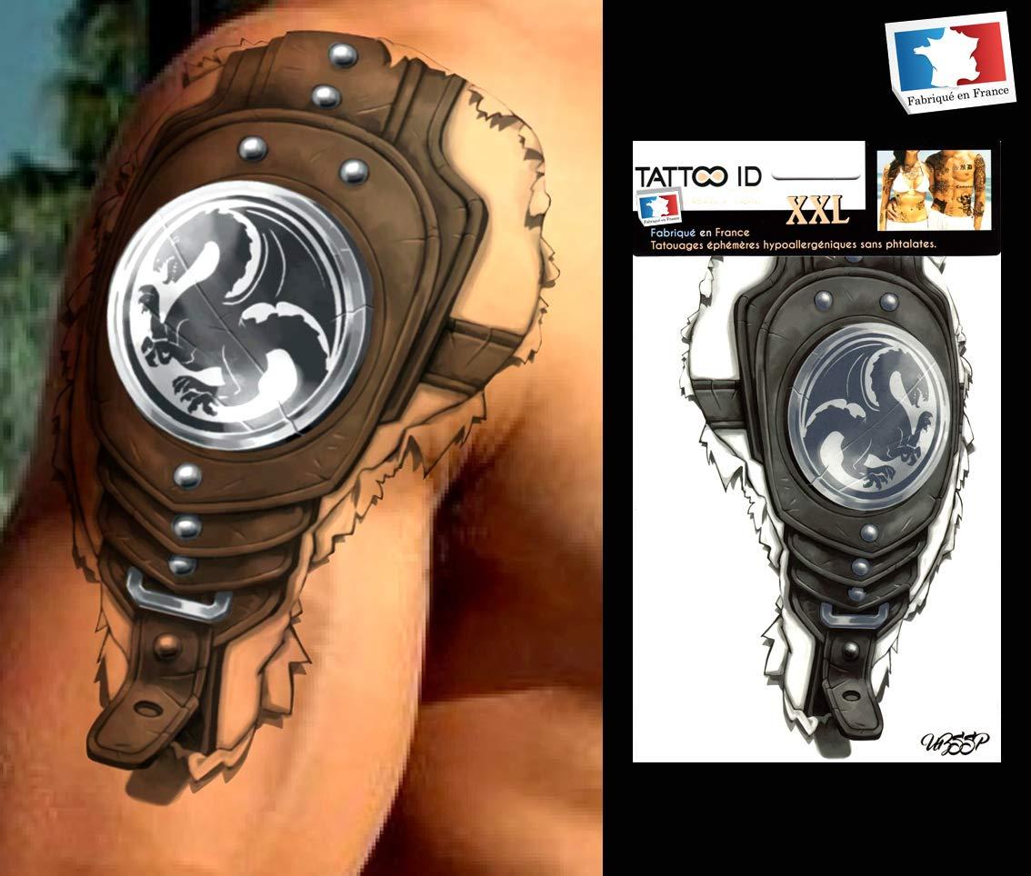 Tattoo ID XXL Guerrero 3d Games tatuaje grande Ephemere temporal ...