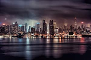 A Gotham Night Stormy New York City NYC Skyline Photo Photograph Cool Wall Decor Art Print Poster 18x12