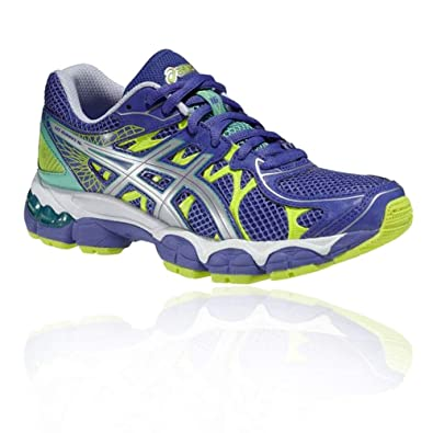 check-out 15860 fb35a Asics GEL-NIMBUS 16 GS Bleu Iris/Gris/Jaune Fluo - 37 EU ...
