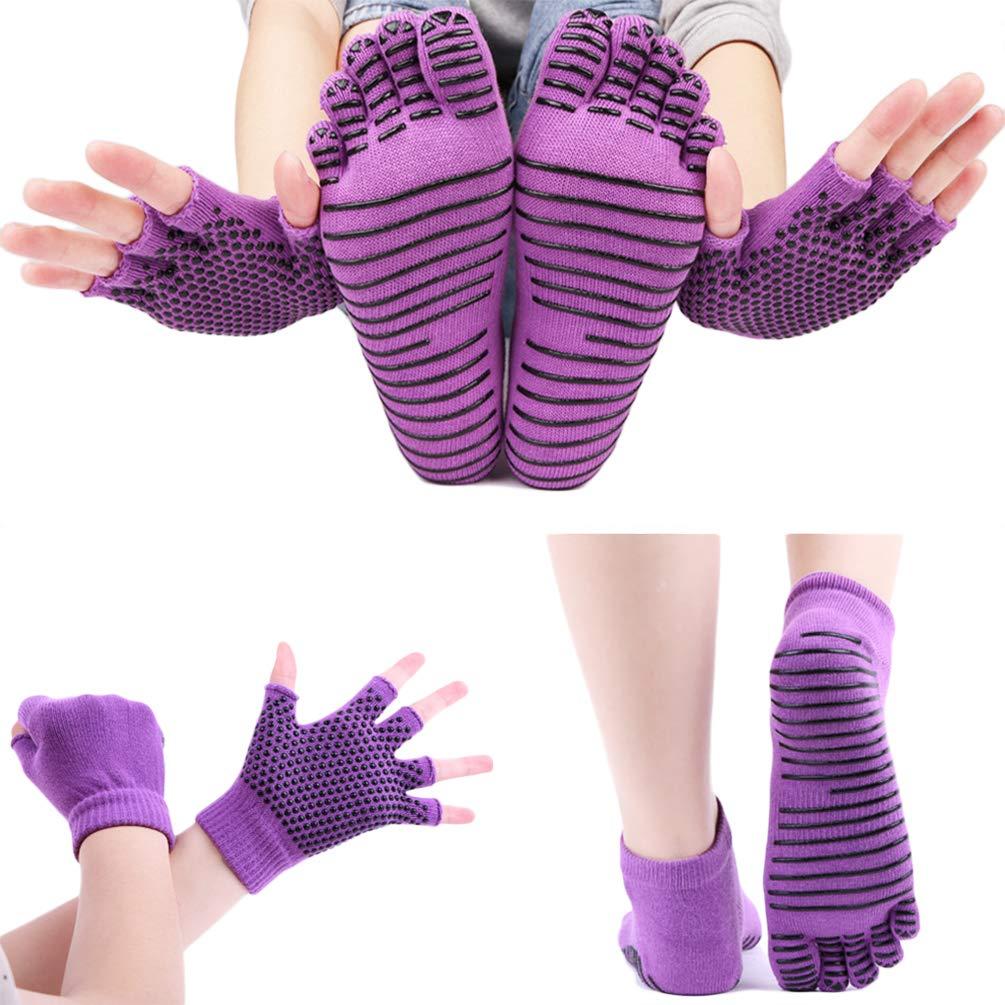 Calcetines y Guantes de Yoga para Mujer, Calcetines ...