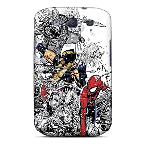 High Grade ScoDay Flexible Tpu Case For Galaxy S3 - Spiderman X Xmen