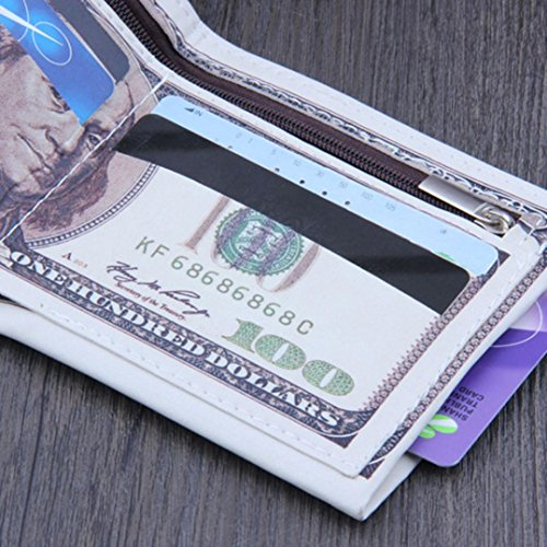 Leather Credit PU Dollar Card US Bill Holder Photo Bifold Men Wallet Tonsee Purse q1THw0F